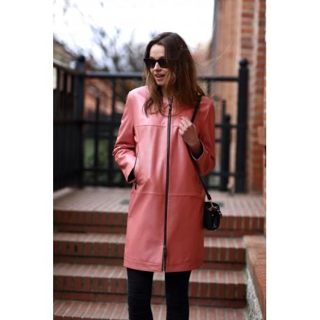 Płaszcz skórzany damski